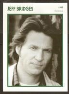 PORTRAIT DE STAR 1985 ÉTATS UNIS USA - ACTEUR JEFF BRIDGES - UNITED STATES USA ACTOR CINEMA FILM PHOTO - Fotos