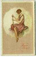 CORBELLA SIGNED 1920s POSTCARD - GLAMOUR LADY - EDIT DEGAMI N. 40 (BG746) - Corbella, T.