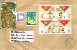 23rd World Scout Jamboree, Kirarahama, Yamaguchi In Western Japan . Special Letter Sent To Andorra,with Arrival Postmark - Padvinderij
