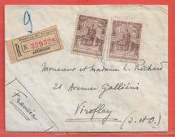 PARAGUAY LETTRE RECOMMANDEE DE 1939 DE ASUNCION POUR VIROFLAY FRANCE - Paraguay