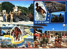 """Lot De 4 CPM GF Femmes Nues Ile Du Levant - Cap D'agde - Cote D'azur """" Jeep - Pin-Ups"""