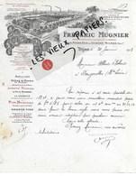 21 - Côte-d'or - DIJON - Facture MUGNIER - Liqueurs, Cassis, Vins - 1913 - REF 131B - France