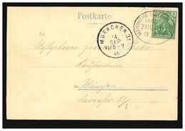 AK Mannheim: Kaiserring, Per Bahnpost MANNHEIM-FRIEDRICHSFELD ZUG 6 - 13.1.1901 - Ohne Zuordnung