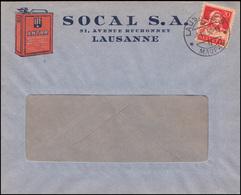 Schweiz 206x Tell Als EF Auf Werbebf. ANTAR LAUSANNE MAUPAS 9.8.1930 - Entiers Postaux