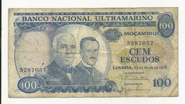 Portuguese Moçambique 100 Escudos 1972 Fine - Portugal