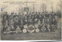 Isles Sur Suippe (societé De Trompettes (le Reveil) Sortie Du 23 Fevrier 1936 - Francia