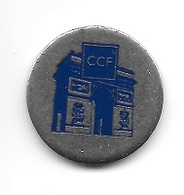 Jeton De Caddie  Banque  C C F  Crédit Commercial De France  Verso  BANCOFIL - Jetons De Caddies