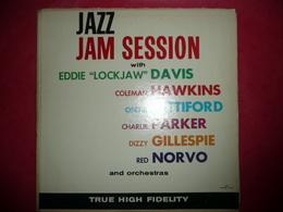 LP N°1665 - JAZZ JAM SESSION - E. DAVIS - C. HAWKINS - O. PETITFORD - C. PARKER - D. GILLEPSIE - R. NORVO  11 TITRES - Jazz