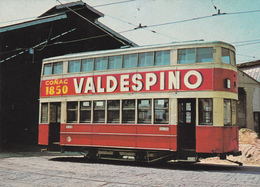 Tranvias-Coche 205-fabricado 1914 Reconstruido 1940 --Foto Abril 1964-Coñac Valdespino - Tranvía