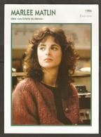 PORTRAIT DE STAR 1986 ÉTATS UNIS USA - ACTRICE MARLEE MATLIN - UNITED STATES USA ACTRESS CINEMA FILM PHOTO - Fotos