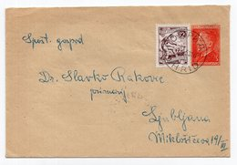 1953 YUGOSLAVIA, MACEDONIA, OHRID TO LJUBLJANA, TITO, 3 DINAR STAMP, STATIONERY COVER, USED - Postal Stationery