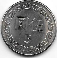 *taiwan 5 Yuan  70 = 1981  Km 552  Unc - Taiwan