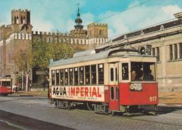 """Tranvia Nº 517construido En 1926 --Calle Muntaner/Gran Via--Diciembre De 1963-""""Agua Imperial"""" - Tranvía"""