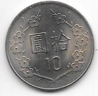 *taiwan 10 Yuan  72 = 1983  Km 553  Unc - Taiwan