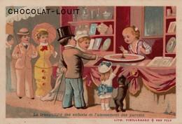 Chromo   Chocolat Louit 10.5 X 7 - Litho Vieillemard Et Ses Fils - Louit