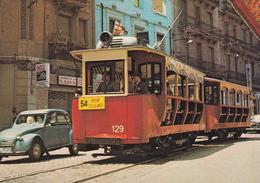 Tranvia Nº 129construido En 1906 --Calle Rogent -foto 18/7/70 - Tranvía