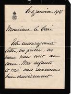Princesse Clémentine De Belgique LAC Du Château De Ronchinne Au Pasteur De Maillen En 1927 Femme De Victor Napoléon - Documents Historiques