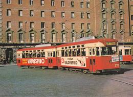 Tranvia Nº 275-276 Construido En 19057 Por Maquitrans --Plaza España  Diciembre De 1963 - Tranvía