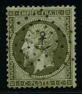 FRANCE - YT 19 - SECOND EMPIRE NAPOLEON III - TIMBRE OBLITERE - 1862 Napoleone III
