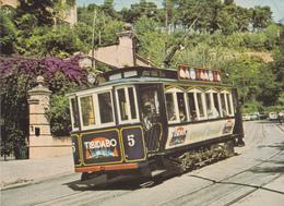 Tranvia -Blau Al Tividavo-- Coche Serie 5-10--construido Can Girona Año 1904-1909 - Tranvía