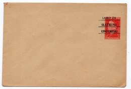 1950s YUGOSLAVIA, TITO, 3 DINAR STAMP, OFFICIAL MAIL ONLY, STATIONERY COVER, MINT - Postal Stationery