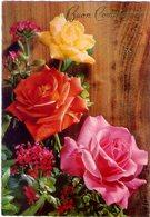 Buon Compleanno Con Rose. VG. - Blumen