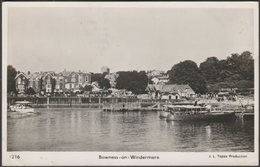 Bowness-on-Windermere, Westmorland, 1950 - JL Topaz RP Postcard - Cumberland/ Westmorland