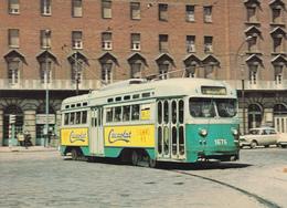 Tranvia -Coche 1676  Serie De 1623-1687--Construido En 1945 En St.Louis Car (USA). Plaza España En Abril 1969 - Tranvía