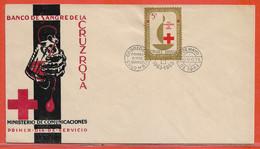 COLOMBIE LETTRE FDC DE 1963 DE BOGOTA CROIX ROUGE - Colombie
