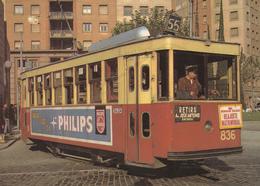 Tranvia -Coche 812  Serie De 1801-835--Construido EEN 1921 A Can Girona.Reconstruidpo En 1950-Calle Muntaner/Gran Via 63 - Tranvía