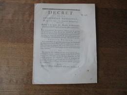 DECRET DE LA CONVENTION NATIONALE DU 24 AVRIL 1793 RELATIF A LA VENTE DES MEUBLES & IMMEUBLES PROVENANT DES EMIGRES & AU - Décrets & Lois