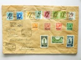 ESPAGNE / MARRUECOS / TANGER // 1930, R-cover > SWITZERLAND / SUISSE, GLARUS. (7 Add. Stamps NOT Belonging To This Cover - Spanisch-Marokko