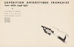 13188 EXPÉDITION ANTARCTIQUE FRANÇAISE - Mission PAUL EMILE VICTOR TERRE ADÉLIE 1948/50 - Terres Australes Et Antarctiques Françaises (TAAF)