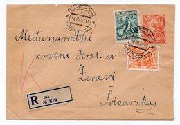 1954 YUGOSLAVIA, SERBIA, ILOK TO  RED CROSS GENEVA, SWITZERLAND, INDUSTRY, REGISTERED STATIONERY COVER, USED - Postal Stationery