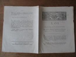 LOI DU 14 SEPTEMBRE 1792 QUI REUNIT AU DOMAINE NATIONAL LES DOMAINES CEDES AU NOM DU ROI AUX SIEURS DE ROHAN - Wetten & Decreten