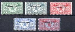 Nouvelle Hebrides Y&v Tx N°1 à 5 Série Neuve * TB Cote 350€ - Segnatasse