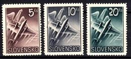 Slovakia 1940 Michel: 76-78 ** MNH - Airmail - Planes - Ungebraucht