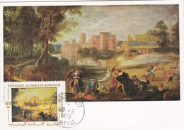 Carte Maximum Peinture Mauritanie 1979 Rubens - Mauritania (1960-...)