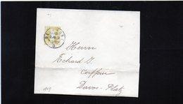 CG6 - Svizzera - Annullo Su Lettera  Da Delemont 23/3/1909 Per Davos - Marcofilie