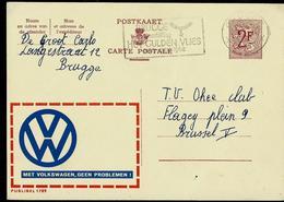 Publibel Obl.   N° 1789 ( Met Wolkswagen , Geen Problemen !  Auto ; Cars ) Obl. Brugge 1962 - Werbepostkarten