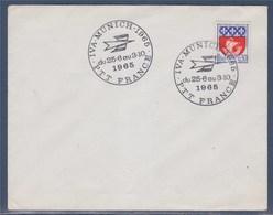 = IVA Munich Du 25.6 Au 3.10 1965 PTT France Enveloppe Avec Timbre 1354B - Marcofilie (Brieven)