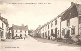 Dépt 22 - PLESTIN-LES-GRÈVES - La Place De La Mairie - (M. Delorme Villedaulé, Phot., N° 65) - HÔTEL De La GRAND'MAISON - Plestin-les-Greves