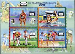 Papua New Guinea 2010. Commonwealth Games - Delhi (MNH OG) Miniature Sheet - Papua New Guinea