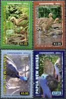 Papua New Guinea 2011. Birds. Cassowaires (MNH OG) Set Of 4 Stamps - Papua New Guinea