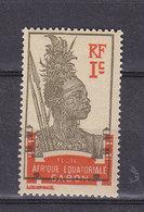 GABON 49 CENTRE DEPLACE  MOT POSTES EFFACE  LUXE NEUF SANS CHARNIERE - Gabon (1886-1936)