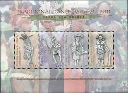 Papua New Guinea 2011. Traditional Dance. Victory Dance (MNH OG) Miniature Sheet - Papoea-Nieuw-Guinea