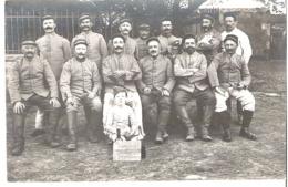 Soldats 15° Chasseur Campagne 1914-1915 Biard Avec Enfant - Guerre 1914-18