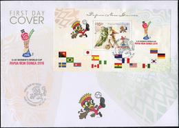 Papua New Guinea 2016. FIFA U20 Women's World Cup (Mint) First Day Cover - Papua-Neuguinea