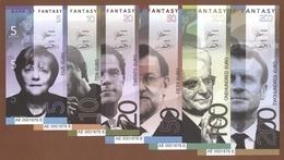 EUROPEAN LEADERS Set 6 Pcs 2018 Polymer UNC - Banknotes