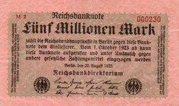 GERMANIA  5000000 MARK 1923 P-105   UNIFACE - 5 Millionen Mark